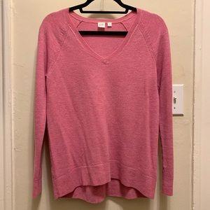 Gap v-neck pink sweater